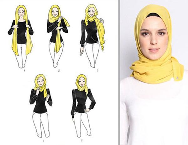 سر کردن روسری لبنانی
