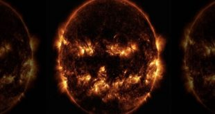 2193761 304 310x165 - تصویر ترسناک از خورشید به شگل صورتک کدوحلوایی