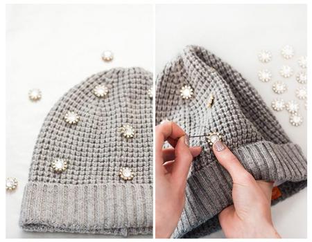 decorating1 simple2 knit2 hat4 - آموزش تصویری دو مدل تزیین کلاه بافتنی